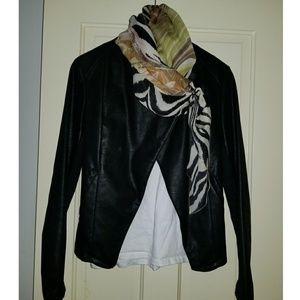 Faux suede symmetrical jacket